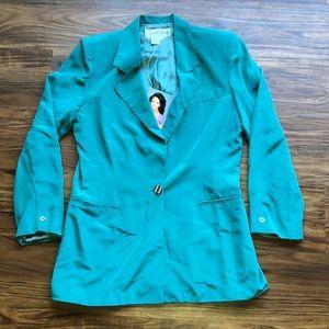 Diane Von Furstenberg silk blazer. Size:10